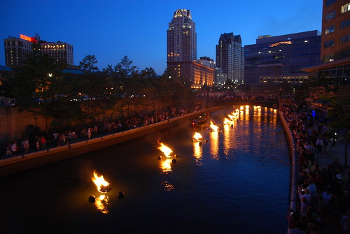 Waterfire in Providence (Rhode Island)