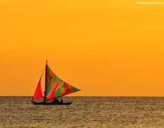 Havaianas On Sail (D Pardo) Tags: travel sunset sea seascape water sailing philippines boracay waterscape paraw saiboat sunsetmania