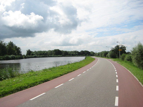 Biking along the Amstel