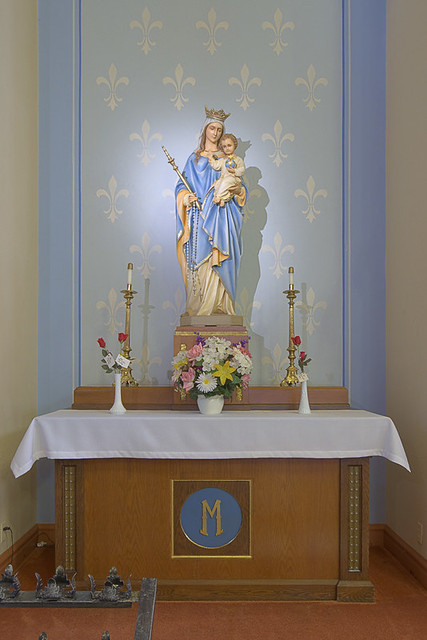 Saint Anthony Roman Catholic Church, in Lemay, Missouri, USA - altar of Mary