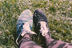 The Earth is my Body (keyana tea) Tags: summer film feet grass artwork shoes painted 150 350 400 200 100 erika 300 500 canonae1 50 450 250 unedited 550