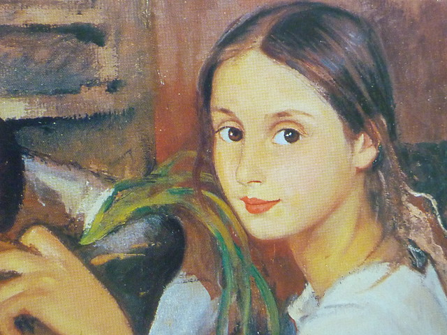 young girl detail