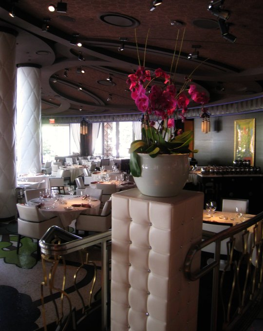 orchids at Botero restaurant in Vegas