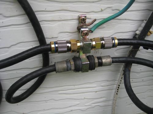 Quad Shield Rg6 And Electrical Lines Doityourself Com