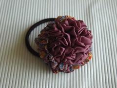 pony hair band flower6 (pitufimin) Tags: flower ponytail hairaccessory handmadekawaii