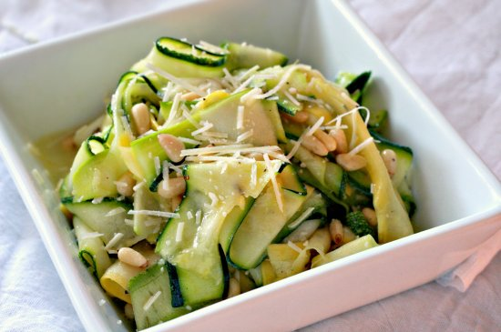 Shaved Zucchini Salad with Parmesan  Pine Nuts The Noshery