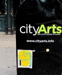 In NYC (LoisInWonderland) Tags: newyorkcity streetart graffiti sticker stickerart urbanart