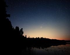 Shooting Star (neatmummy) Tags: summer sky night finland stars nationalpark wideangle astronomy 1635mm perseids f28l 1635l savojrvi 5dmarkii 5d2