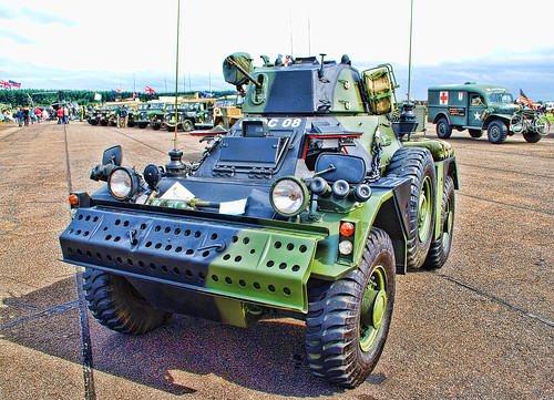 WOODVALE RALLY 2010 ~ MILITARY VEHICLES : FERRET ARMOURED CAR.