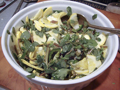 Purslane, Squash and Jalapeno Salad