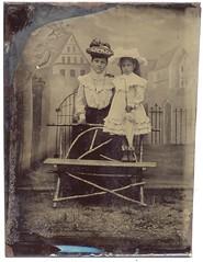 Mother And Daughter (josefnovak33) Tags: old hat daughter mother photograph parasol tintype
