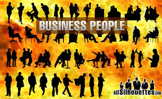 Click en la imagen para descarga 41 Siluetas en formato vector - Hombre de negocios