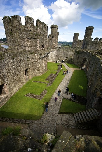 Inside Conwy Castle