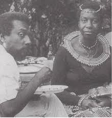 Kwame Ture (aka Stokley Carmichael) chats with African-American recording artist Nina Simone. Simone was a supporter of Pan-Africanism. Ture was an organizer for the A-APRP. by Pan-African News Wire File Photos