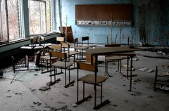 Prypjat / ' (Ukraine) - School Nr. 2 (Danielzolli) Tags: nuclear ukraine atom nuklear catastrophe chernobyl ukraina ucrania gau ukrajina nucular reaktor tschernobyl nukular ucraina  pripyat  prypyat  tschornobyl supergau cernobyl pripjat cornobyl   pripet   pripjat