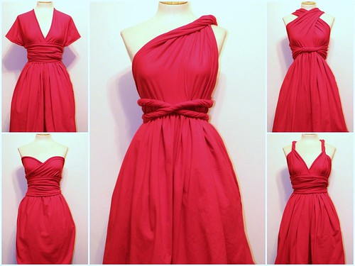 day 221: convertible dress in red