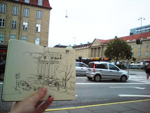 banegårdspladsen sketchbreak