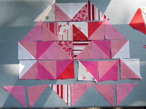 4 of Hearts Block - Step 1