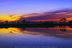 End of a Beautiful Day (M Atif Saeed) Tags: blue pakistan sunset lake reflection nature water sunrise landscape lahore atifsaeed gettyimagespakistanq1
