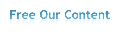 Free Our Content logo