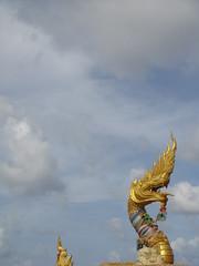 Monument (KJGarbutt) Tags: travel sky travelling beach statue clouds thailand photography gold golden sony religion cybershot traveling phuket kurtis karon sonycybershot aroundtheworld mounment garbutt kjgarbutt kurtisgarbutt kurtisjgarbutt kjgarbuttphotography