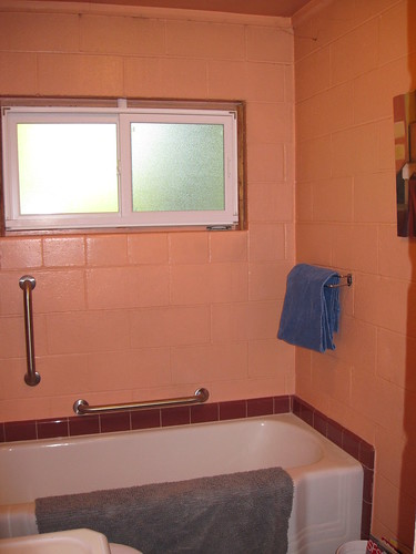 Prison Bathroom - facing the front of the house.