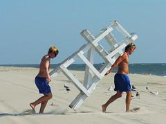 taking a stand (nj dodge) Tags: ocean seagulls beach de sand listeningto delaware pattismith lewes lifeguards lifeguardstand capehenlopenstatepark peaceandnoise