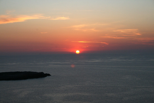 La caída del sol