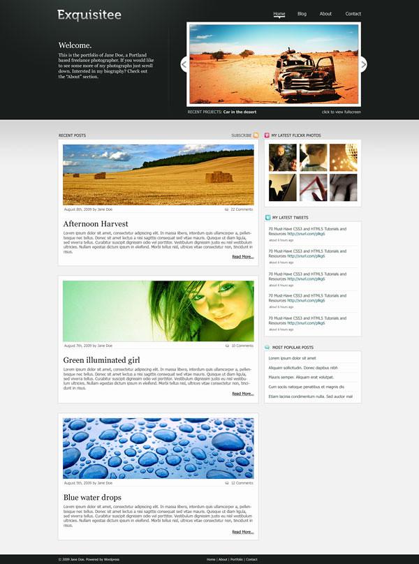Free premium PSD template – Exquisitee