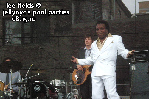 Lee Fields at JellyNYC's Pool Parties, Williamsburg Waterfront, August 15, 2010