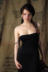 Ksenia III (comadreja) Tags: portrait woman girl earring cleavage braid blackdress tamron2875mmf28 tamronspaf2875mmf28xrdildasphericalif nikond700