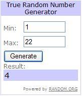 Random Number Generator Result