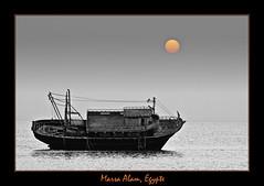Lever de soleil sur l' pave de Marsa Alam, Egypte mer rouge (franchab) Tags: red sea redsea egypte marsa alam pave chalutier wwwfranchabphotographefr