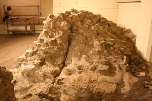 Showing the join between fort wall and the enlagement