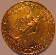 British Colonial Proof Trade Dollar in Gold