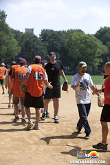 CBS Early Show vs NBC Today Show Softball Game at Heckscher Ball fields Central Park NY