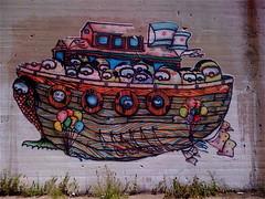 NICE ONE X SWIV WHEAT PASTE (billy craven) Tags: streetart chicago graffiti stencil wheatpaste nice1 niceone nicer swiv