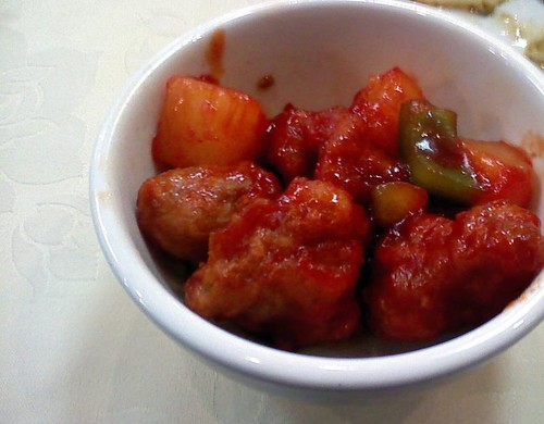 Sweet and Sour Chicken from Gourmet Vegetarian Restaurant