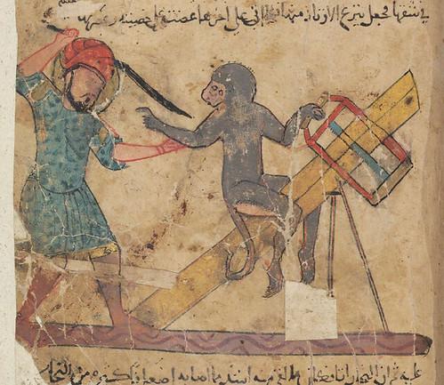 Simius et Lignator