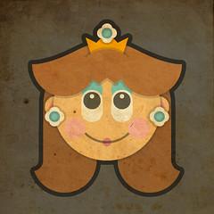 Todos Personagens de Mario Bros Cartoonizado Daisy