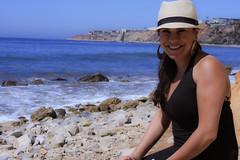 0010_SuzieTest (katNovoa) Tags: lighthouse southbay beachhat pointvincent shortblackdress suzielara