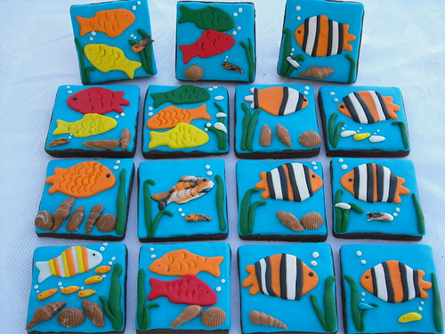 Sea-themed cookies