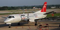 N407XJ Saab 340 (707-348C) Tags: usa northwest memphis airliner saab340 kmem propliner s340 n407xj deltanorthwest 270409