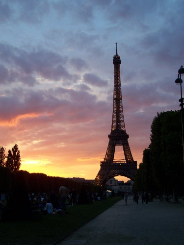 Paris: Sunset over the Eiffel Tower