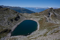 Lac Noir as seen from the climb to the Schwarzhorn Photo