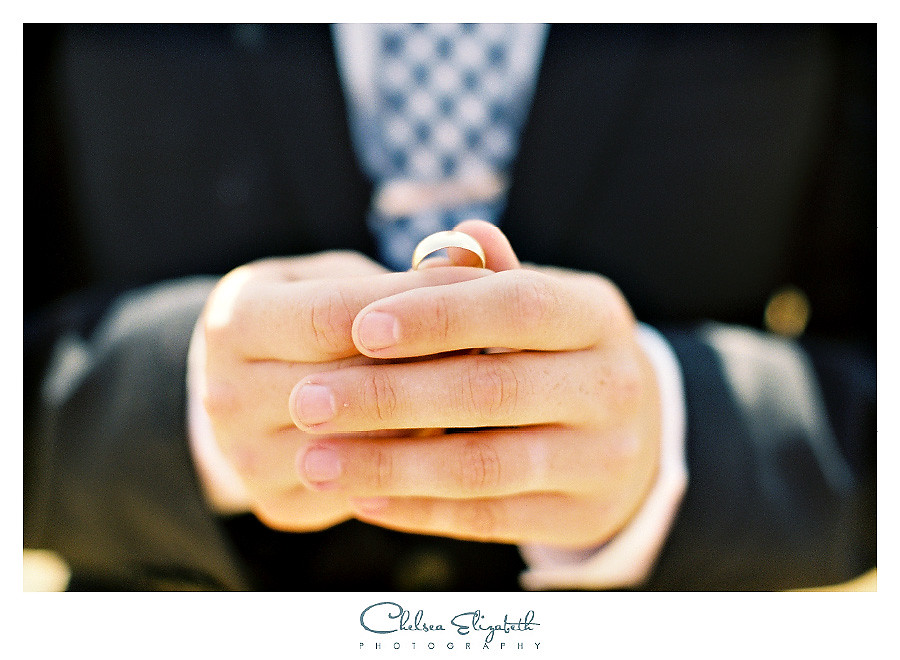 Groom with wedding band