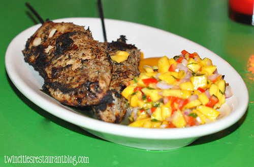 Jerk Chicken with Mango Salsa ~ Chino Latino