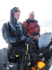 all aboard (squeezemonkey) Tags: sea rain scotland boat divers isleofskye elenac