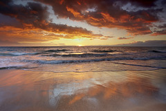 Mango Skies - Hapuna Beach, Big Island, Hawaii (PatrickSmithPhotography) Tags: ocean sunset red sea wallpaper sky usa seascape water landscape hawaii sand unitedstates wave bigisland hapuna visipix