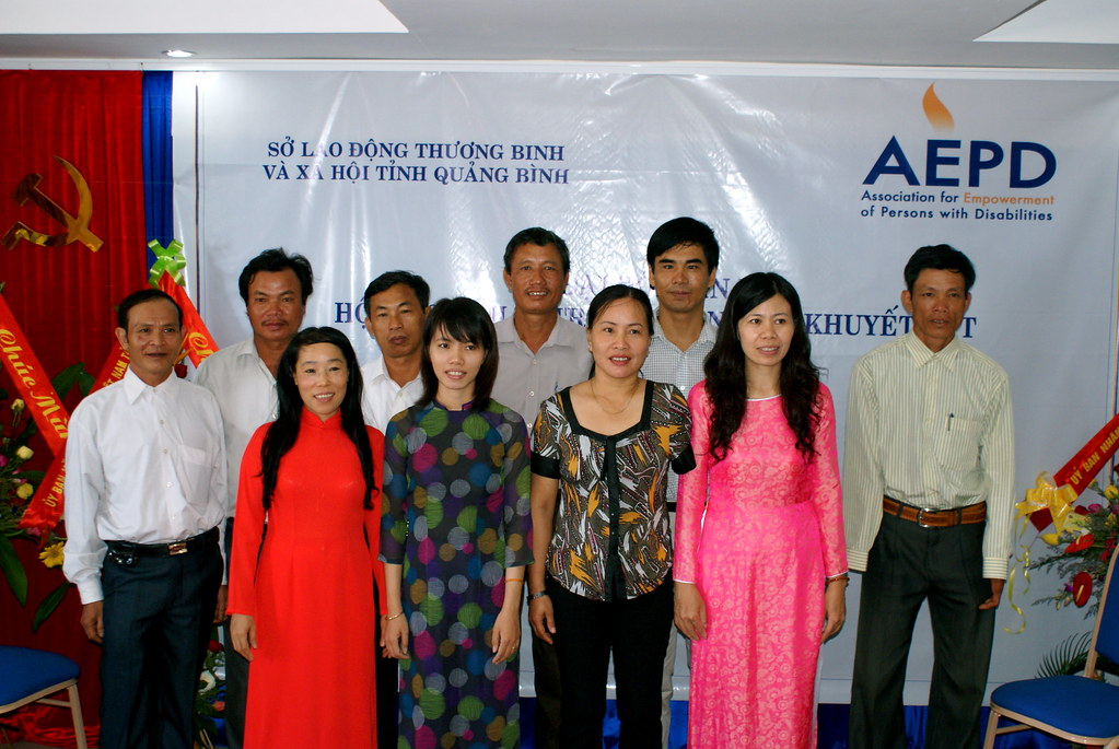 AEPD team at the first congress, 11 August, Dong Hoi